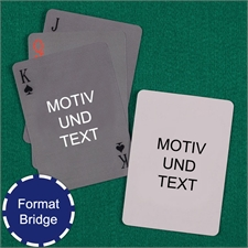Bridge Spielkarten Vorder- und Rückseite gestalten