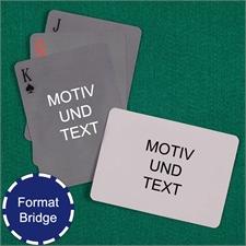 Einfache Bridgekarten mit individualisierbarer Vorder- und Rückseite Querformat