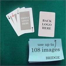 Klassische Bridgekarten mit individualisierbarer Vorder- und Rückseite