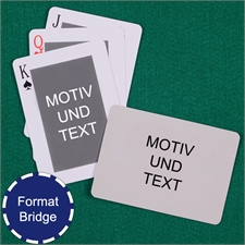 Klassisches Bridgespiel Selbstgestaltete Vorder- und Rückseite