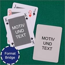 Bridgekarten mit selbstgestalteter Vorder- und Rückseite