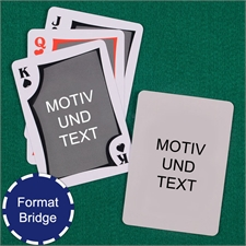 Moderne Bridge Spielkarten Beidseitig Personlisierbar