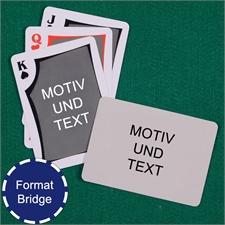 Moderne Bridgekarten Beidseitig Individuell Gestalten Rückseite Querformat