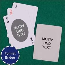 Bridge Ovales Portrait Spielkarten Beidseitig Gestalten