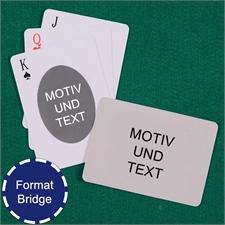 Bridge Ovales Portrait Spielkarten Beidseitig Gestalten Rückseite Querformat