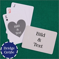 Herz Bridge Spielkarten Rückseite Querformat