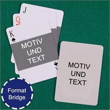 Bridgekarten mit Foto im Querformat