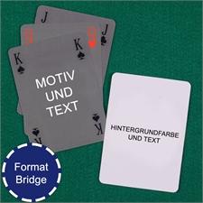Einfache Brigdekarten selbstgemacht mit Hintergrund
