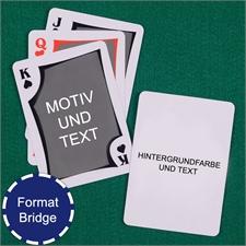 Moderne Bridge Spielkarten Beidseitig Gestaltbar