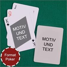 Schräges Karo Poker Spielkarten Beidseitig Personalisieren