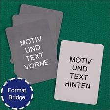 Bridgekarten Vorder- und Rückseite Gestalten im Hochformat