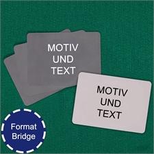 Bridgekarten im Querformat Vorder- und Rückseite gestalten