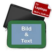 Personalisierte Laptop Tasche Klein Grün