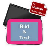 Personalisierte Laptop Tasche Klein Pinkfarbener Rand