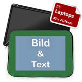 Personalisierte Laptop Tasche Medium Grün