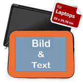Personalisierte Laptop Tasche Medium Orange