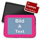 Personalisierte Laptop Tasche, Medium, Pinkfarbener Rand