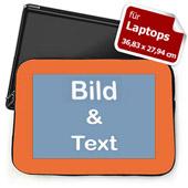Personalisierte Laptop Tasche Groß Orange