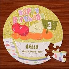Geburtstagskuchen Rundes Puzzle Personalisieren Durchmesser 18,4 cm