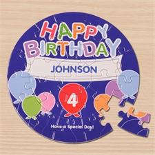 Bunte Ballons Rundes Puzzle Personalisieren Durchmesser 18,4 cm