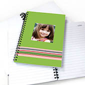 Notizbuch, Buntgestreift, Grün