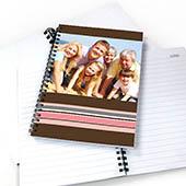 Notizbuch, Buntgestreift, Schoko