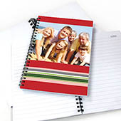 Notizbuch, Gestreift, Rot