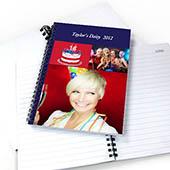 Notizbuch, Drei Fotos, Ein Titel, Blau