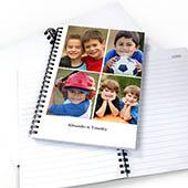 Notizbuch, Vier Fotos, Einzeilig