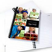 Notizbuch, Fünf Fotos, Doppeltitel, Schwarz