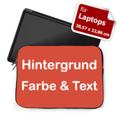 Hintergrund Rot Text personalisiert Kleine Laptop Tasche
