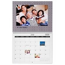 Schwarz Weiß Rot Wandkalender  27,9 cm x 21,6 cm