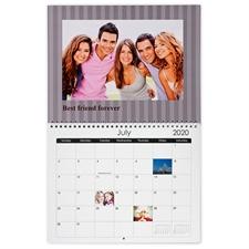 Kleine Streifen Wandkalender 27,9 cm, x 21,6 cm