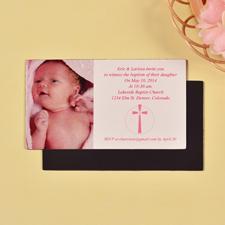 Taufe Mädchen Fotomagnet 5,08 x 8,89 cm