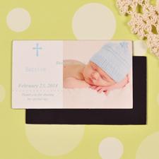 Taufe Baby Blau Fotomagnet 5,08 x 8,89 cm