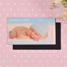Babyblau Querformat Fotomagnet 5,08 x 8,89 cm