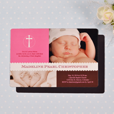 Klassische Taufe Mädchen Fotomagnet 10,16 x 15,24 cm