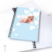 Notizbuch Junge mit Herzen