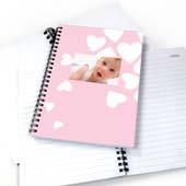 Notizbuch Mädchen mit Herzen