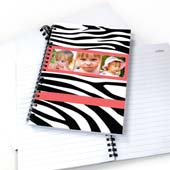 Notizbuch Dreier Kollage Zebra Pink