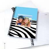 Cooles Blau Zebra Notizbuch für Jungs