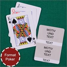 Poker Kollage Spielkarten 2 Fotos Weiß