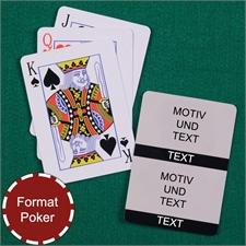 Poker Kollage Spielkarten 2 Fotos Schwarz