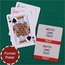 Poker Zwei Foto Kollage Spielkarten Rot