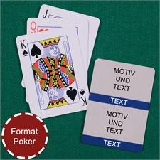 Zwei Fotos Kollage Pokerkarten Marineblau
