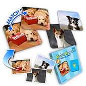 Personalisertes Memo Foto Spiel  Tiere