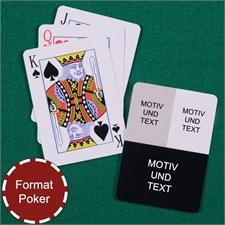 Drei Foto Kollage Pokerkarten