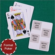 Poker Spielkarten Kollage Vier Quadrate Weiß