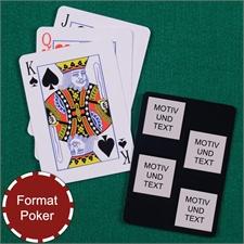 Poker Spielkarten Fotokollage Vier Quadrate Schwarz
