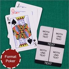 Poker Kartenspiel Kollage Vier Fotos Weiß